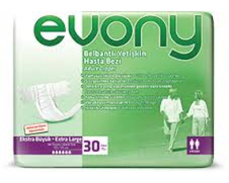 Evony Belbantlı Hasta Bezi (Extra Large, 30 PC)